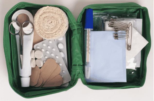 yoga teaching - first aid kit