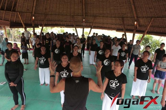 yoga class dialogue