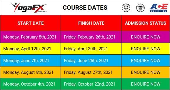 YTT course dates